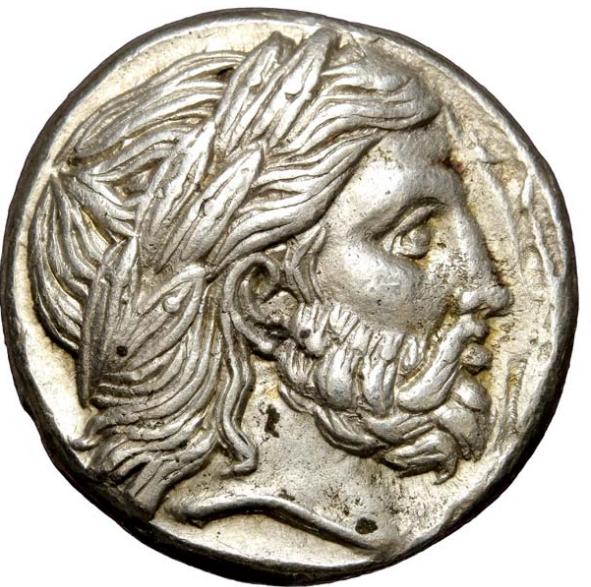Lot 392392, tétradrachme de Philippe III de Macédoine au nom et au type de Philippe II, Amphipolis
