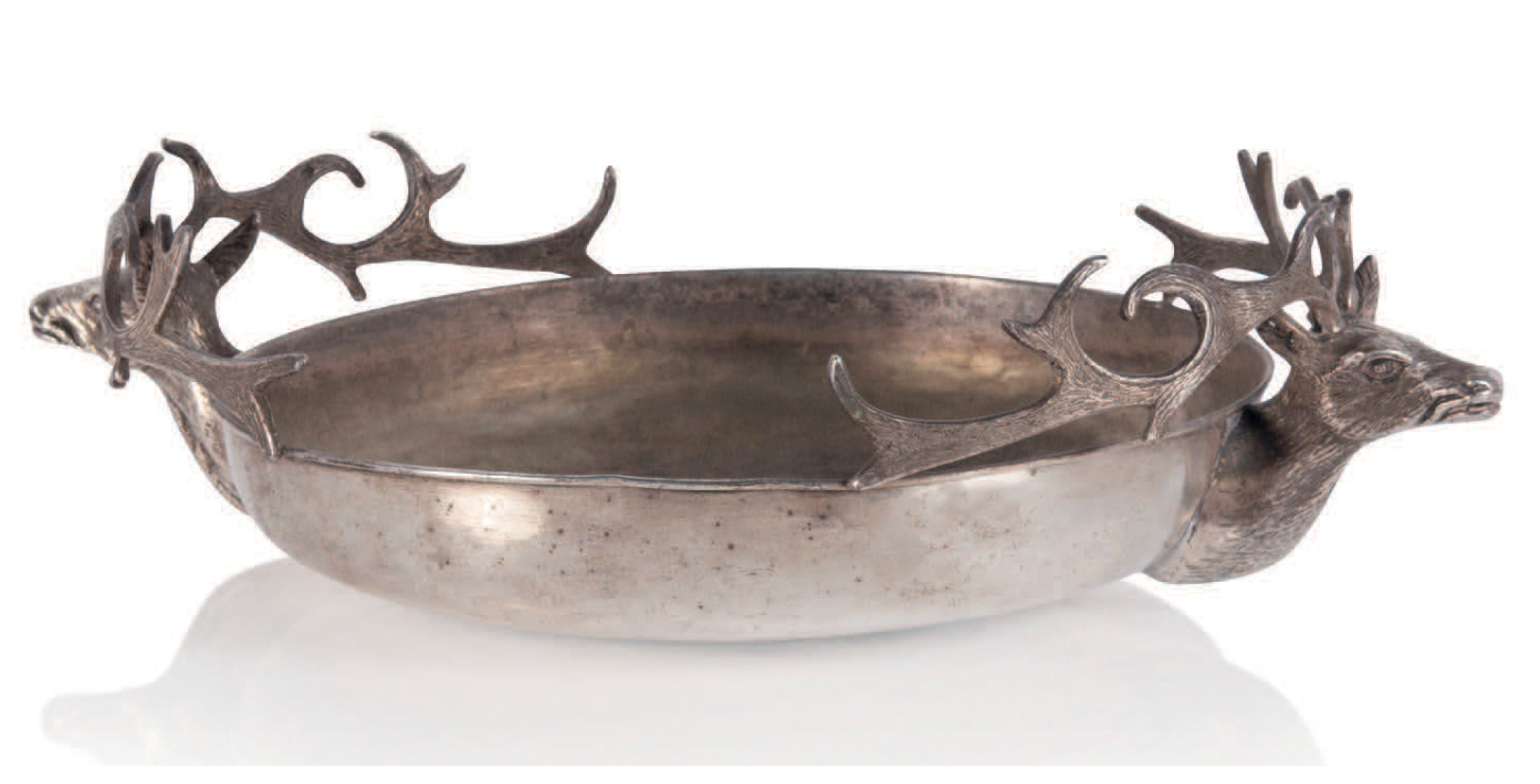 Silver brass bowl for Christian Dior, c. 1970. Gabriella Crespi.
