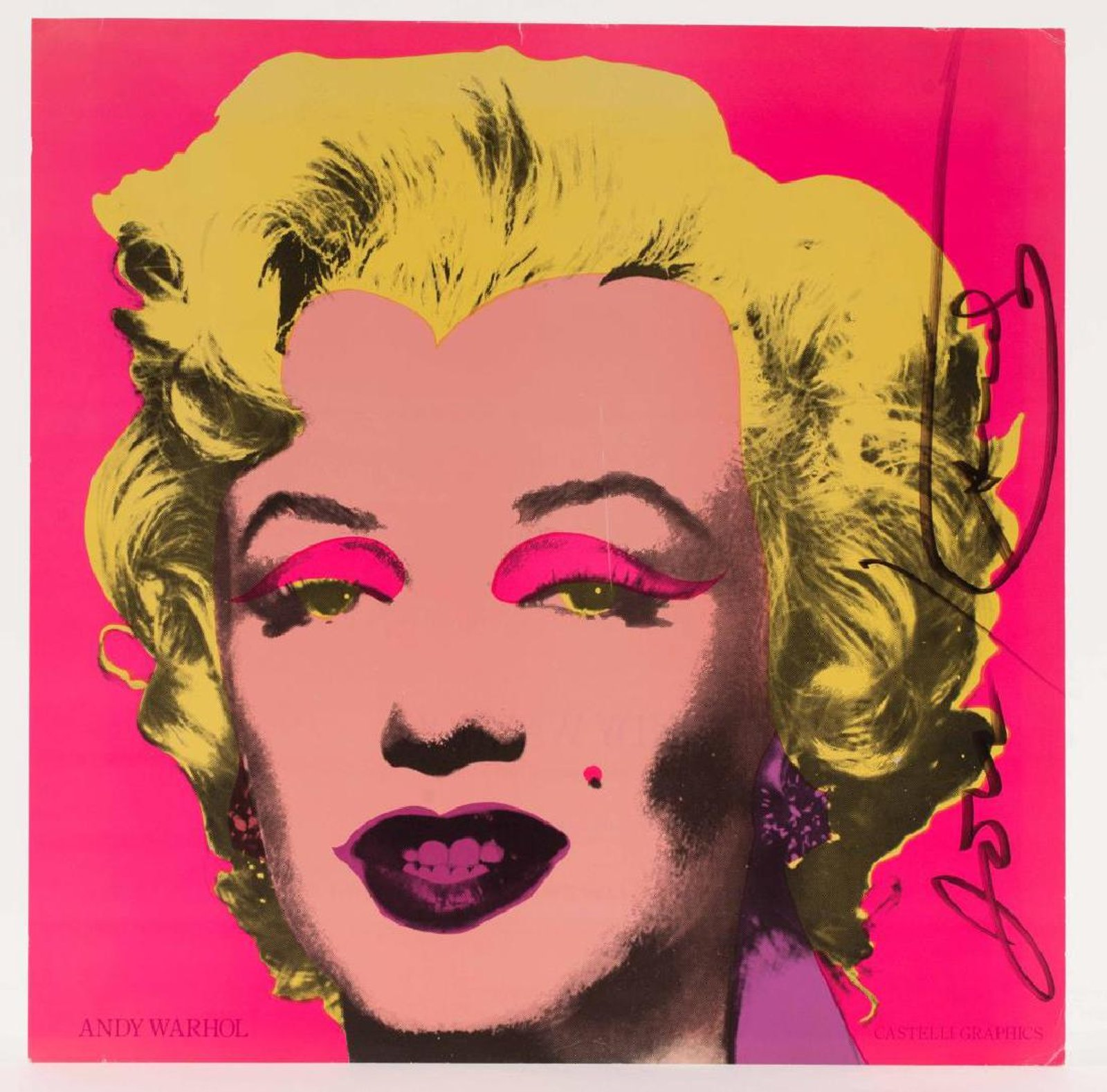 Invitation to the Factory Editions event, Andy Warhol, A Print Retrospective, 1963-1981, which ran Dec.-Nov. 1981 in New York, with his iconic Marilyn, 1967 image