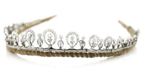 Tiare platine et diamants, début du 20ème siècle