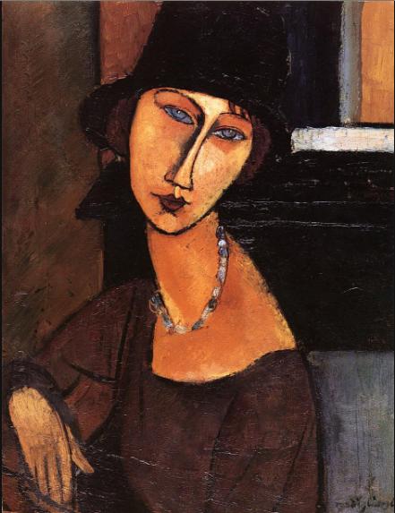 Amedeo Modigliani, Jeanne Hébuterne (au chapeau), 1917.