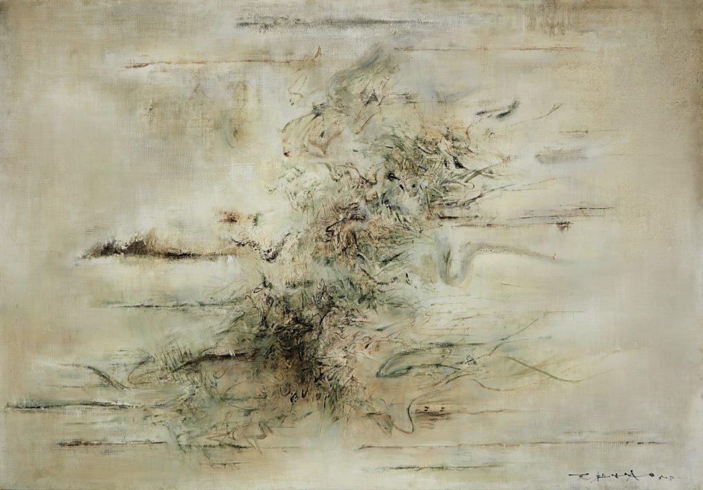 Zao Wou-Ki, Sans titre, 1958, huile sur toile, image ©Sotheby's