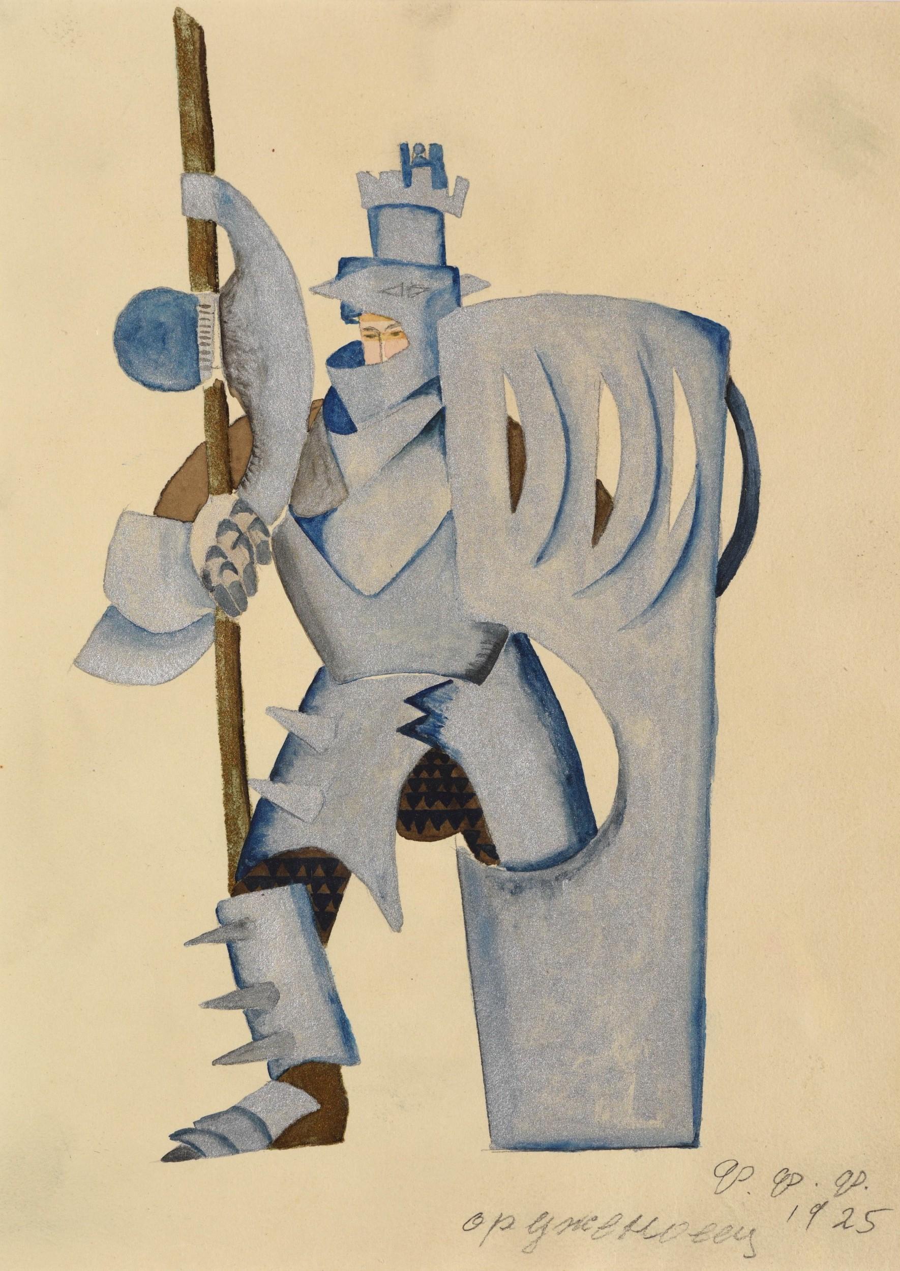 Feodor Feodorovitch Fedorovski, esquisse pour un costume de «Lohengrin», 1925, image ©HVMC