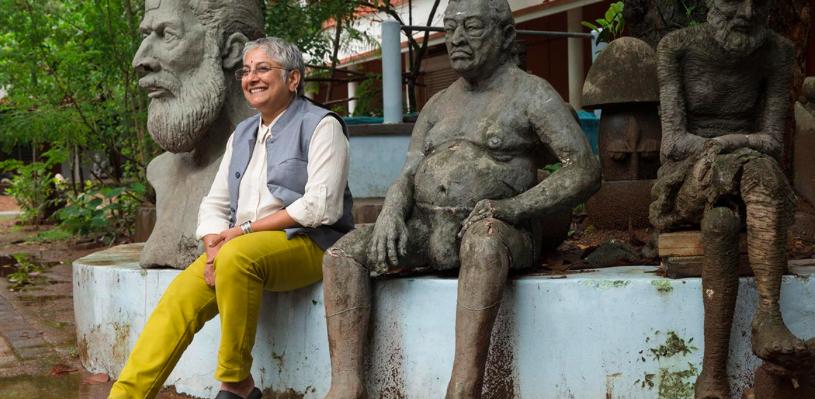 Anita Dube, Curator de la biennale de Kochi-Muziris Biennale 2018, image ©Kochi-Muziris