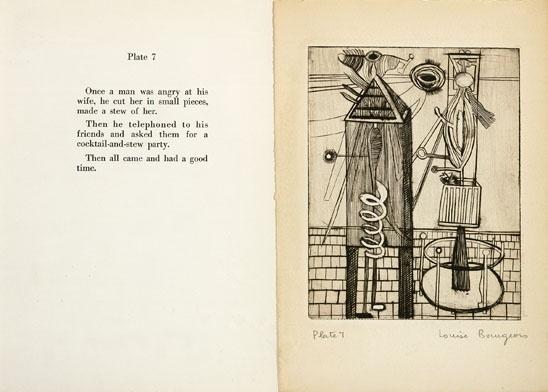 Libro di illustrazioni, Louise Bourgeois, immagine via Pinterest