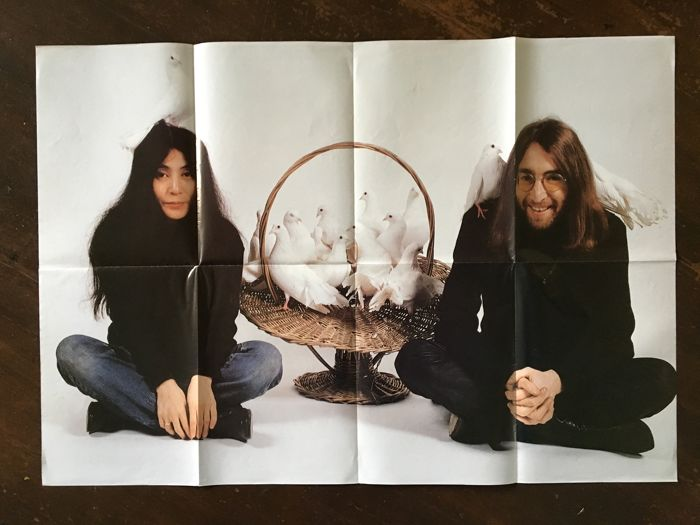 A1 size poster of John Lennon and Yoko Ono
