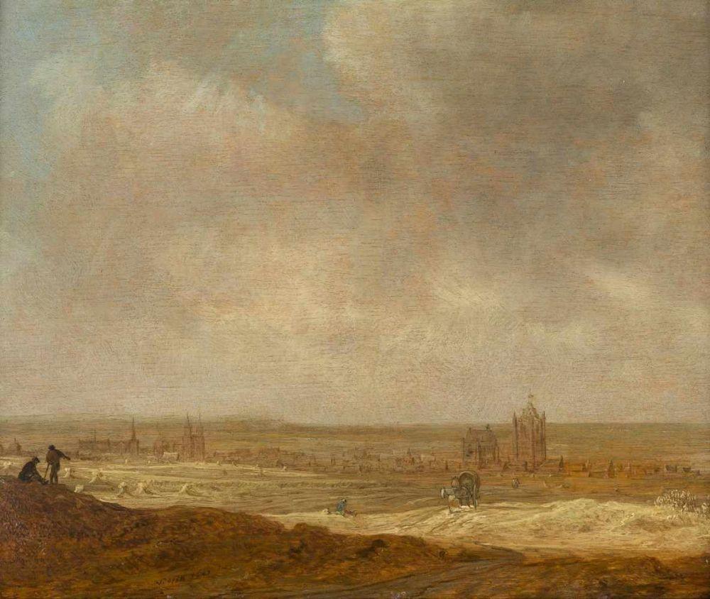 JAN VAN GOYEN (1596 Leiden - 1656 Den Haag) - Blick auf Arnheim von den Höhen, Öl/Eichenholz, signiert und datiert, 1641