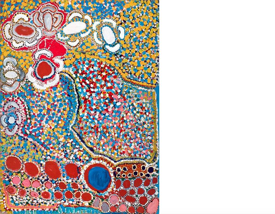 ENA GIMME NUNGURRAYI (1953-2001) - Artist Mother Country, Öl/Lwd., signiert
