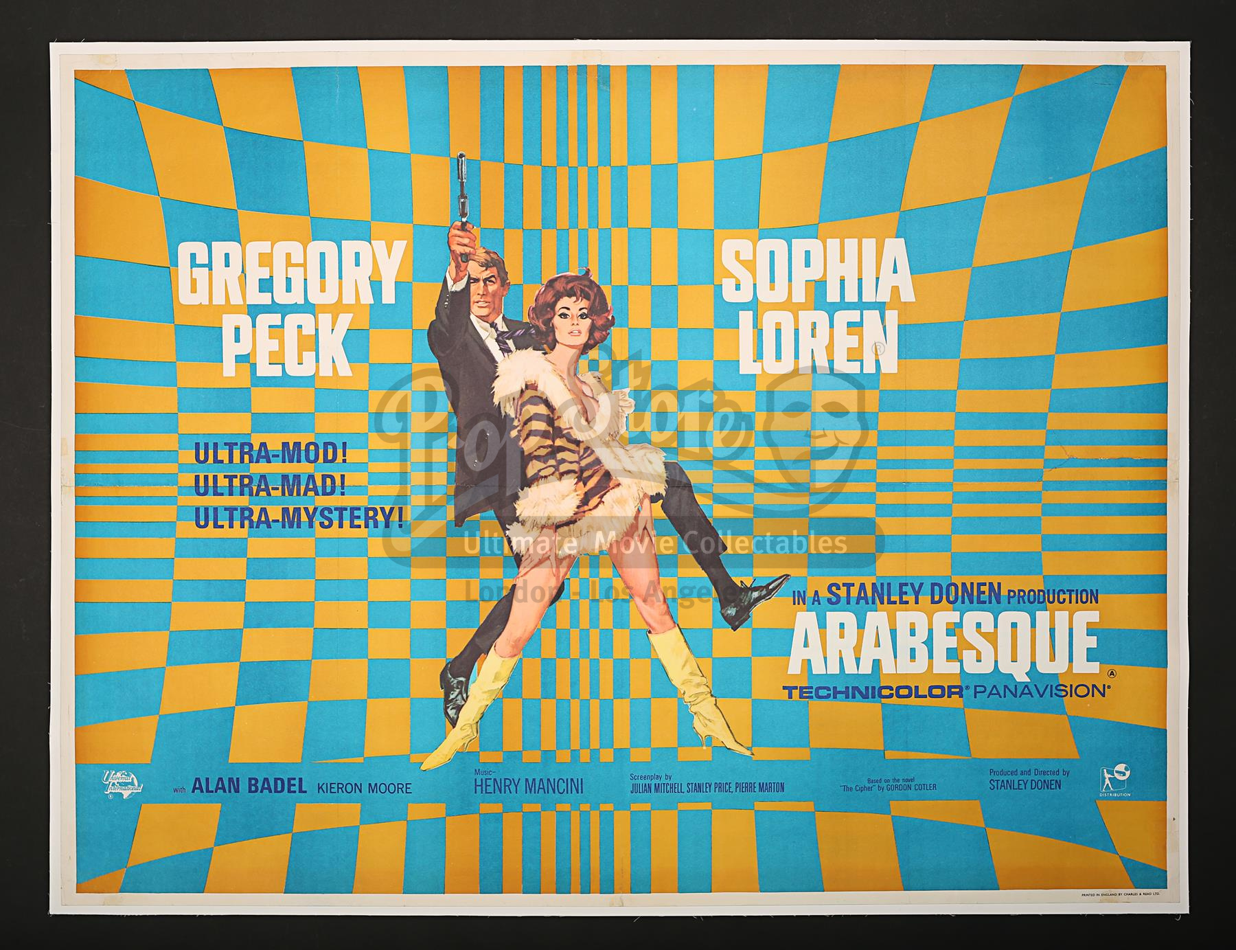 Arabesque (1966) poster by Renato Fratini and Robert McGinnis. Image: Prop Store