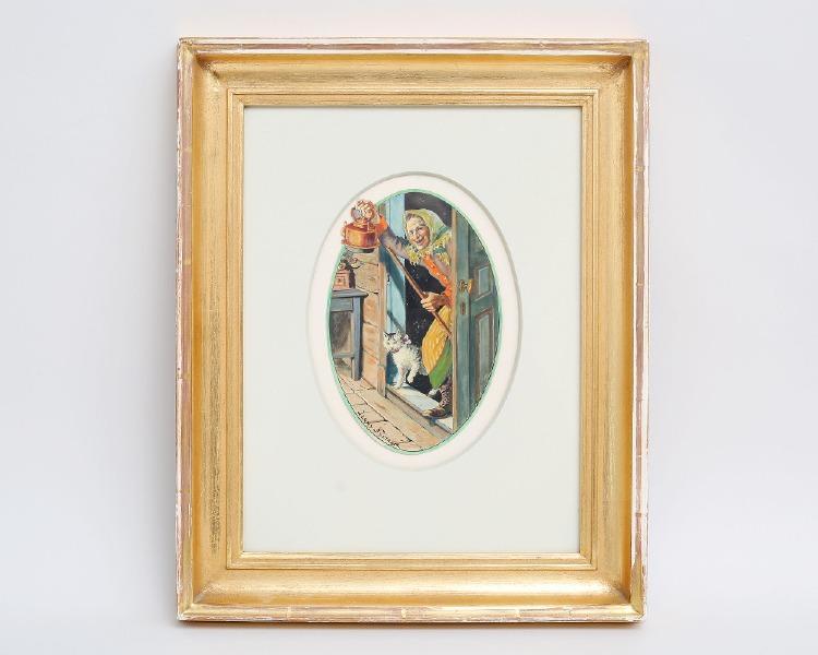 "Jenny Nyström ""Le Soleil ebloui"" 13 litografier på japanpapper somliga av dem signerade i stenen samt litografiska tryck med berättelser av Geneviéve Laporte, i kasett, upplaga 11/100, Plon et de la Galerie Francoise Tournié 1974"