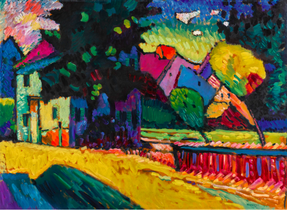 Wassily Kandinsky (1866 - 1944) Murnau - Landschaft mit grünem Haus Image: courtesy Sotheby's