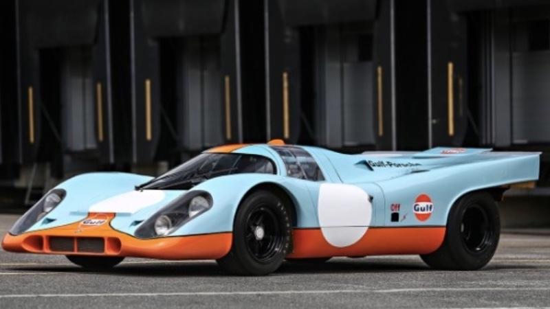 """Porsche 917K, körd av Steve McQueen i """"Les Mans"""". Racerbil"""