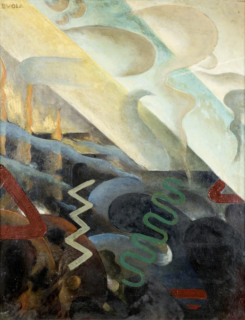 Julius Evola, Abstraction, 1918-20