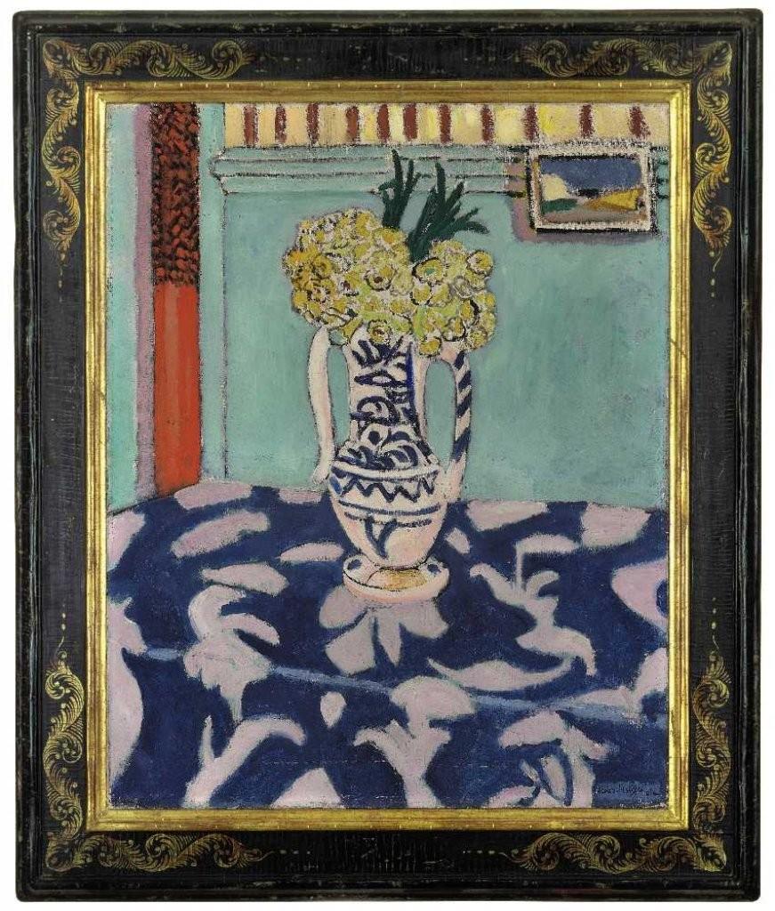 Henri Matisse (1869-1954), « Les coucous, tapis bleu et rose », 1911, image via uroc.fr