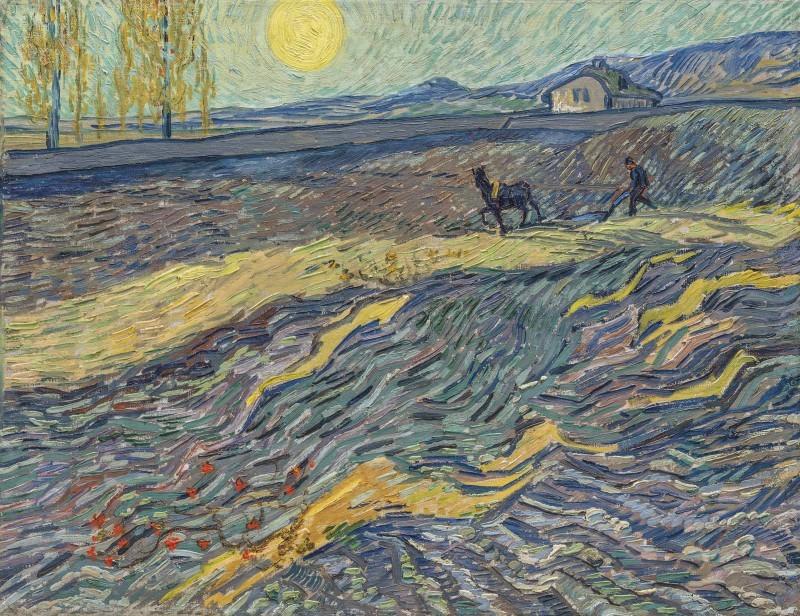 Vincent van Gogh, Laboureur dans un champ, 1889 Abb.: Christie's