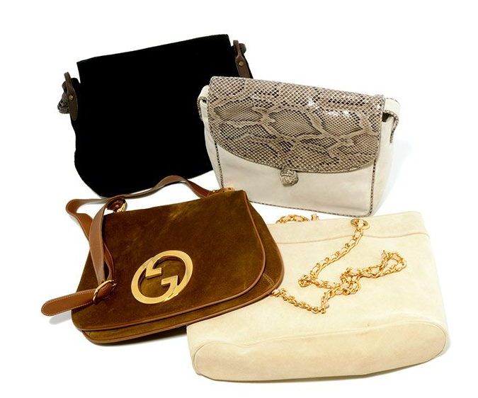 Collection de quatre sacs Gucci, Ralph Lauren, Mondi, Maud Frezon  Michaan's auctions