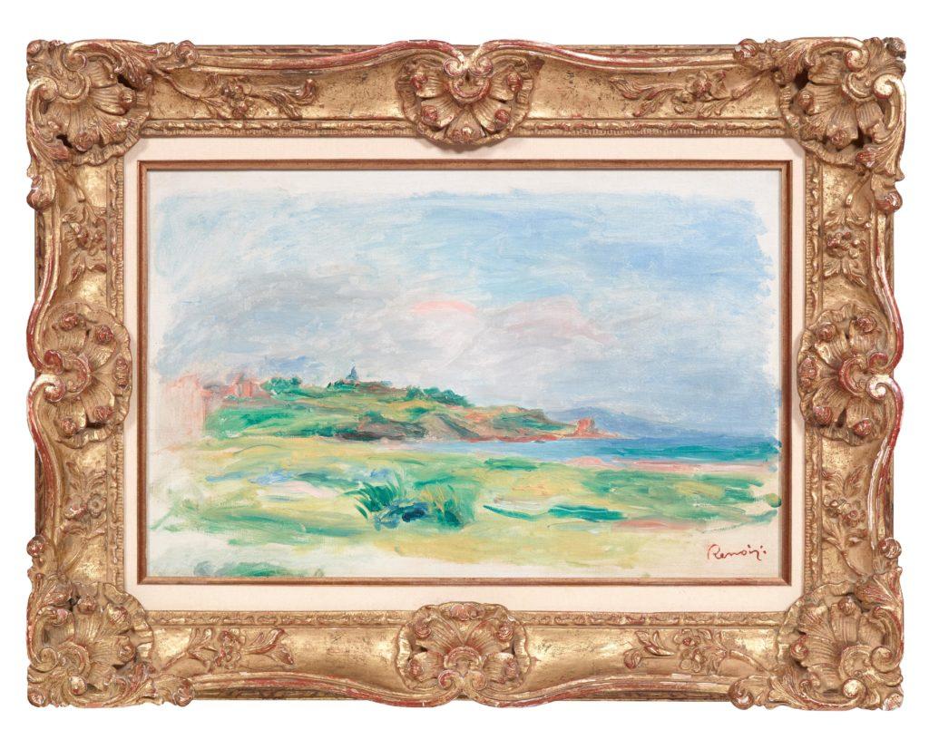 Gulf, Sea, Green Cliffs by Renoir (1892) that was stolen from Dorotheum auction house, Vienna. Image: CNN