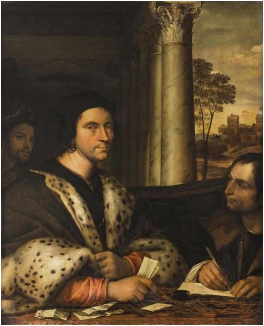 Sebastiano Luciani (Venecia, 1485 - Roma, 1547), conocido como Sebastiano del Piombo, Retrato del hombre de Estado Ferry Carondelet y su secretario