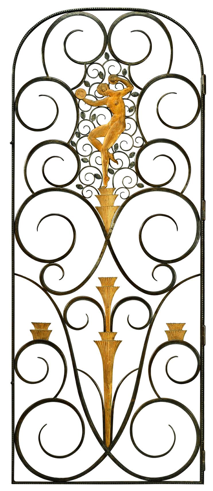 Wrought iron gate by Edgar Brandt (1880-1960)