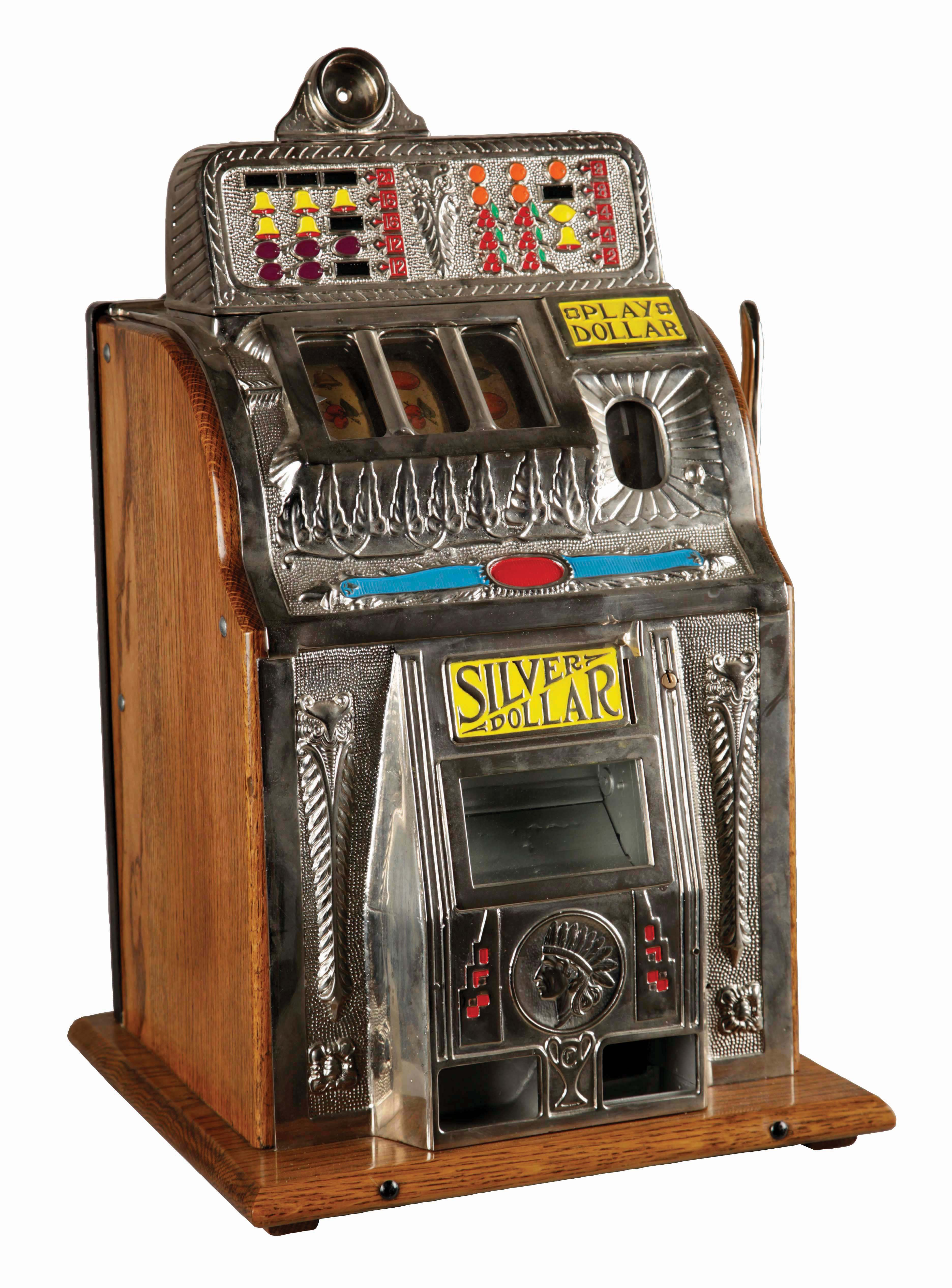 Spelautomat, Charles Fey & Sons. Foto: Morphy Auctions.