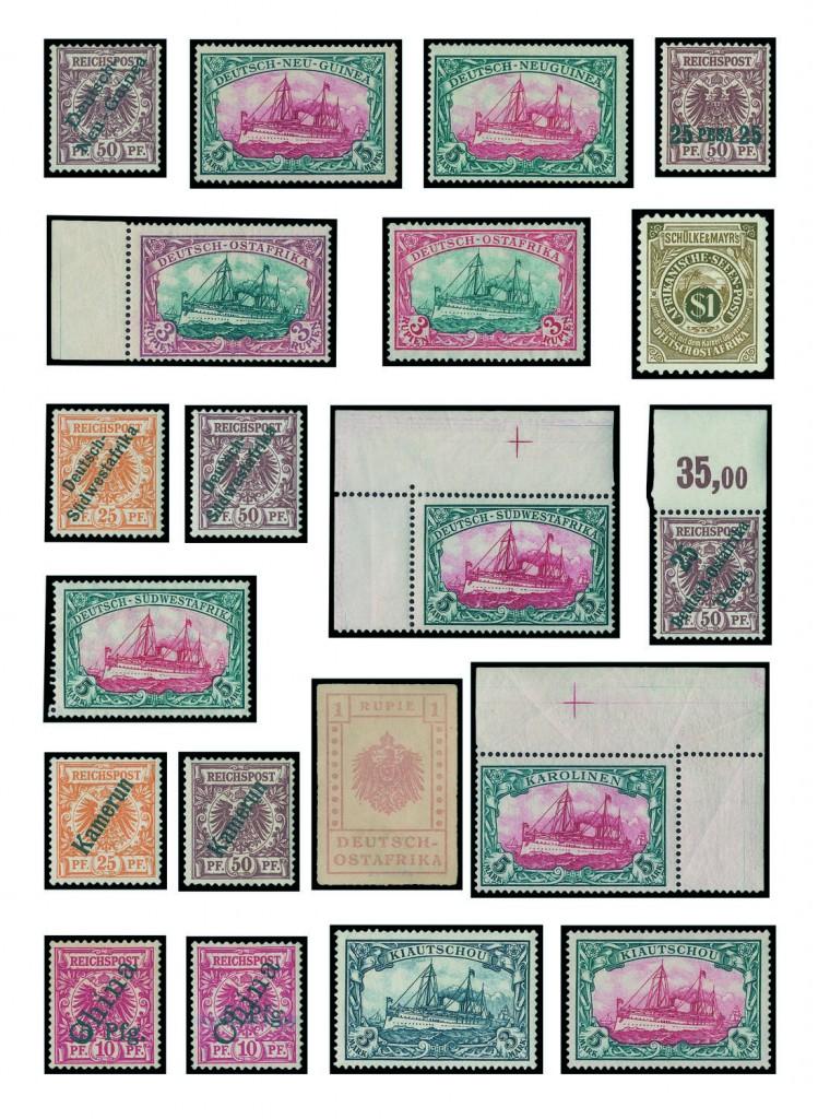 DEUTSCHE KOLONIEN - Sammlung der Deutschen Auslandspostämter und Kolonien Ausruf: 7.500 EUR