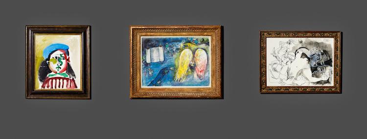 Några av toppverken ur Tha Neuman Collection som säljs hos Uppsala Auktionskammare. Verken visas i Stockholm fram t o m den 27 november
