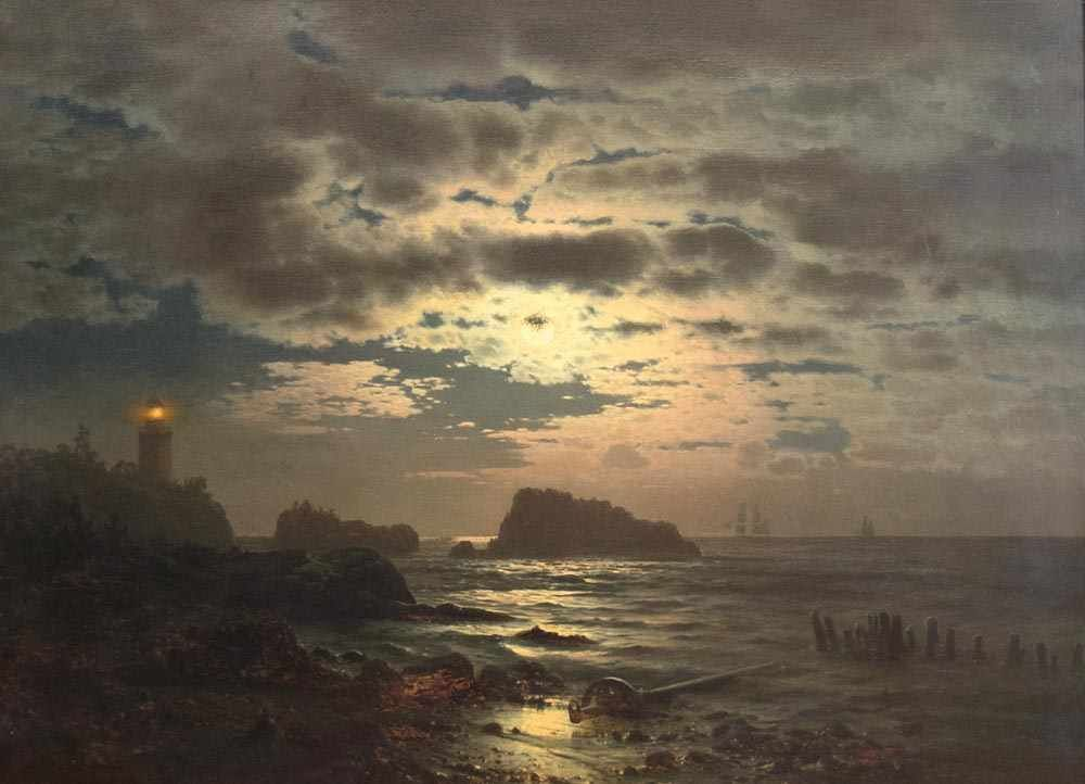 LOUIS DOUZETTE (1834 Tribsees-1924 Barth) - Nach dem Gewitter, Öl/Lwd., signiert und datiert, 1866