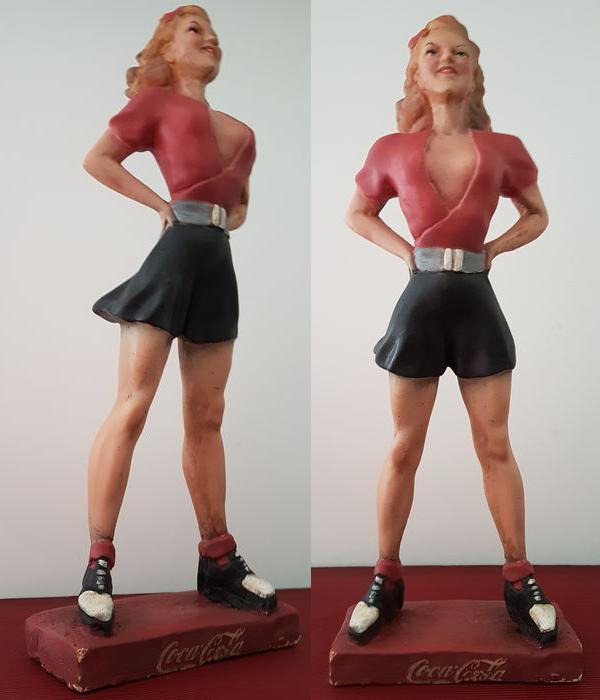 Statue de publicité en plâtre - Coca Cola - 1960