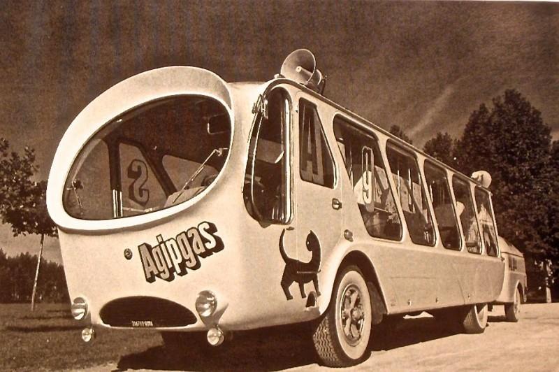 """The bus """"Nube d'Argento"""", photo via Bau-House"""