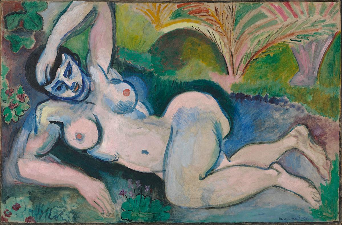 Blue Nude (Souvenir de Biskra), Henri Matisse. 1907, oil on canvas.