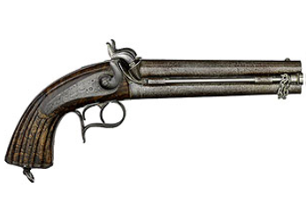 Model 1855 Regulation General Staff Officer's Double-Barrel Percussion Pistol, French