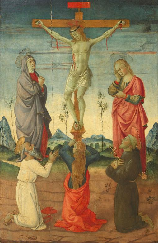 Crocifissione, Maestro di San Miniato, base d'asta: 18.000 euro.