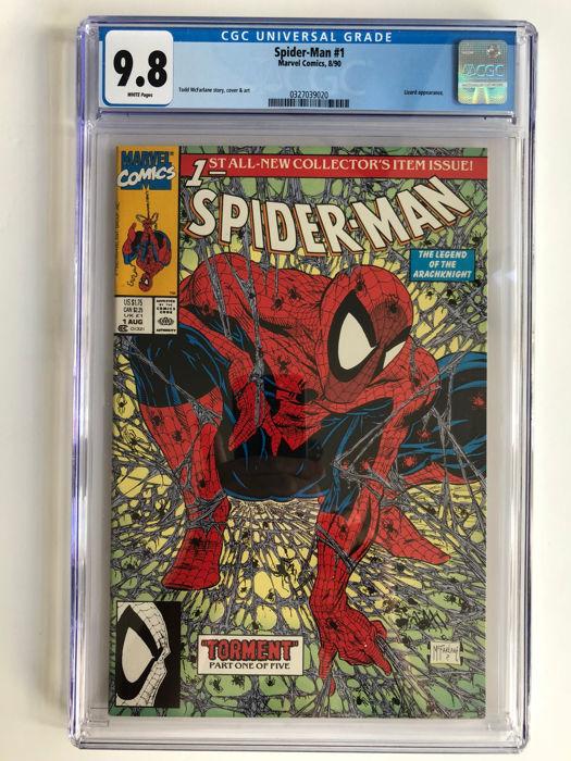 Spider-Man #1, år 1990. Foto: Catawiki.