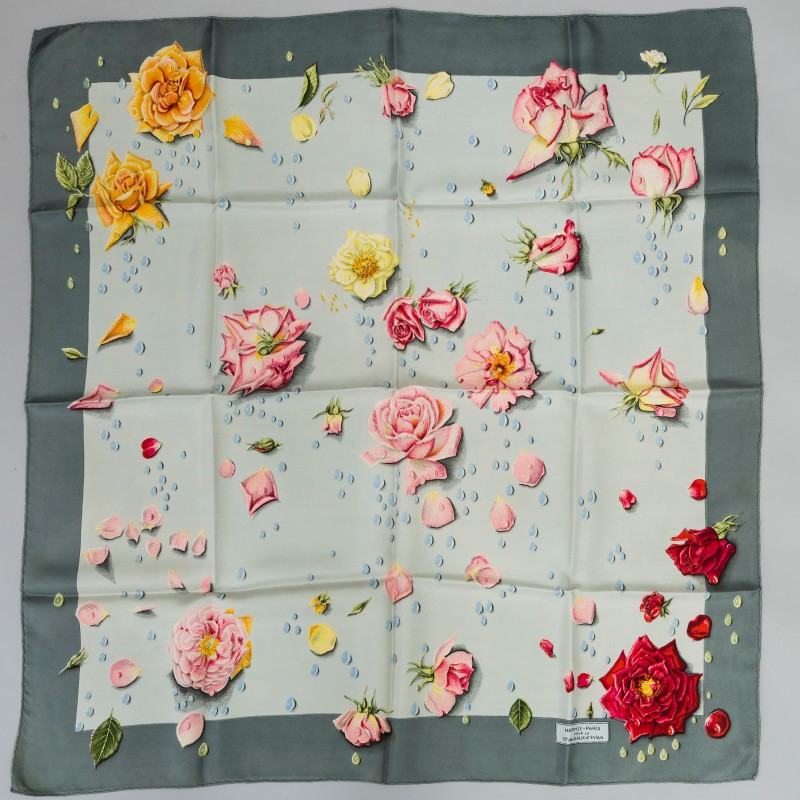 """Hermès, ""La Rosée"", Siden. Design Anne Gavarani originaldesign 1960."