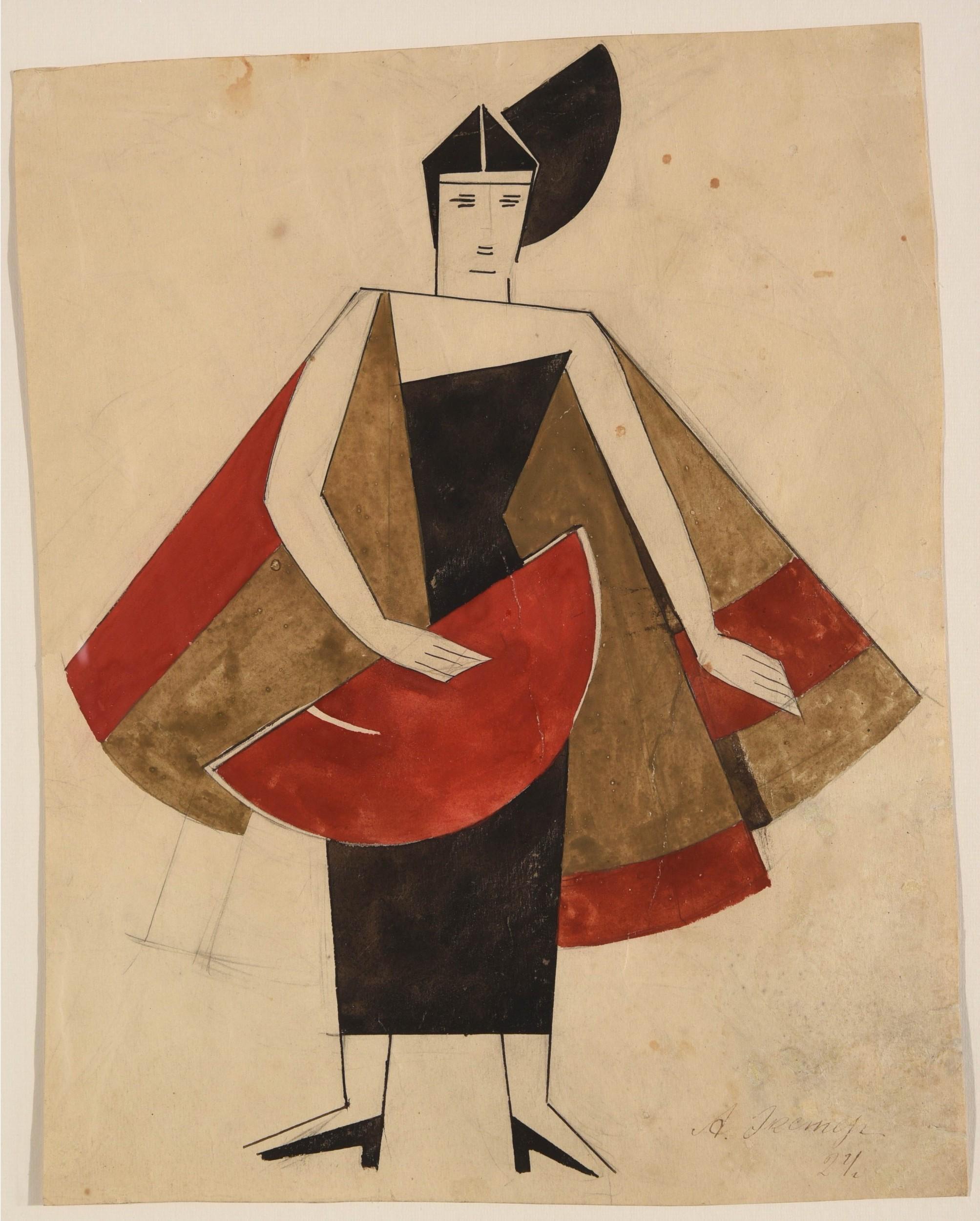 Alexandra Alexandrovna Exter, projet de costume pour «La dame-fantôme», 1924, image ©HVMC