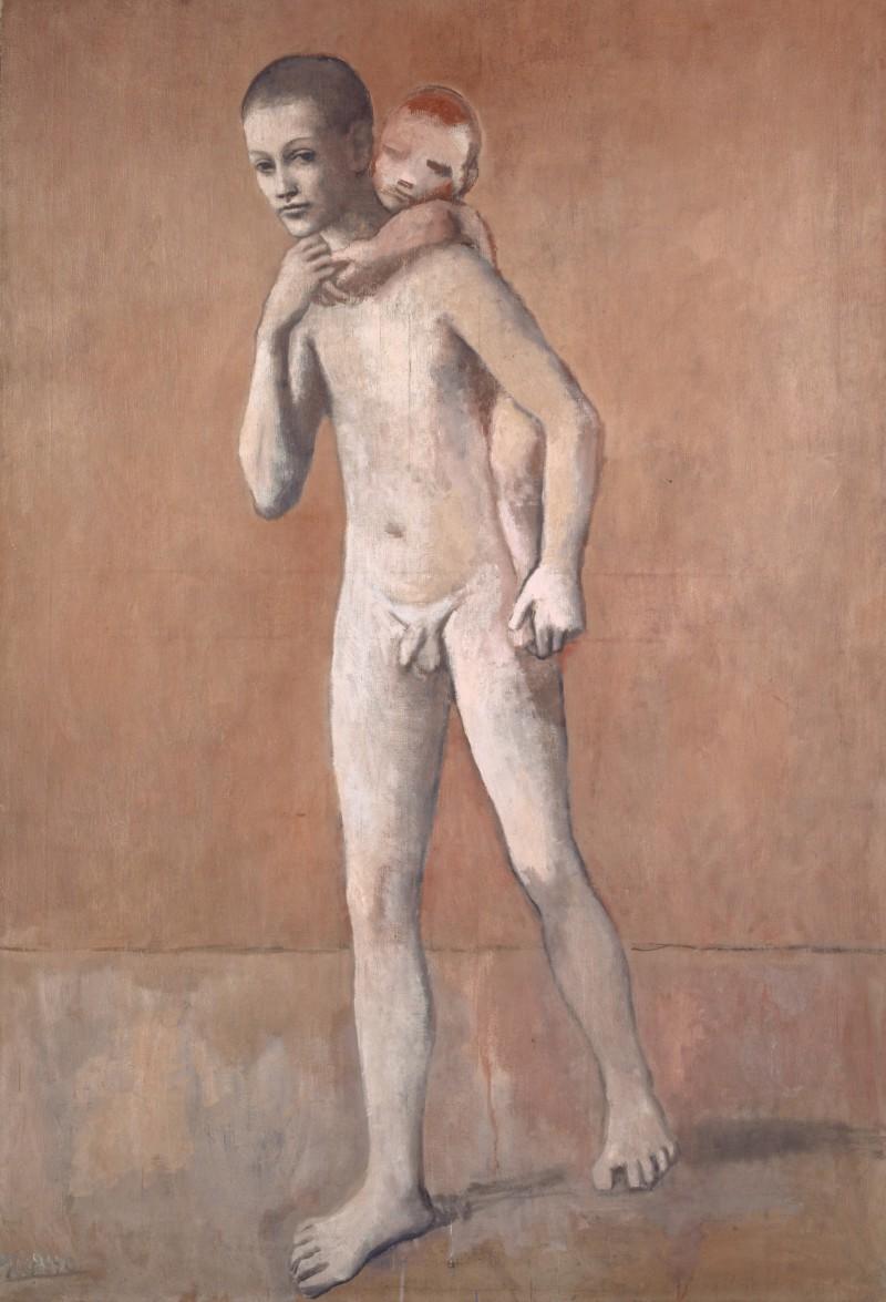 """""""Les deux frères"""" (De två bröderna), målades mellan 1905-06 och är ett exempel på Picassos roda period. Foto: Kunstmuseum Basel."""