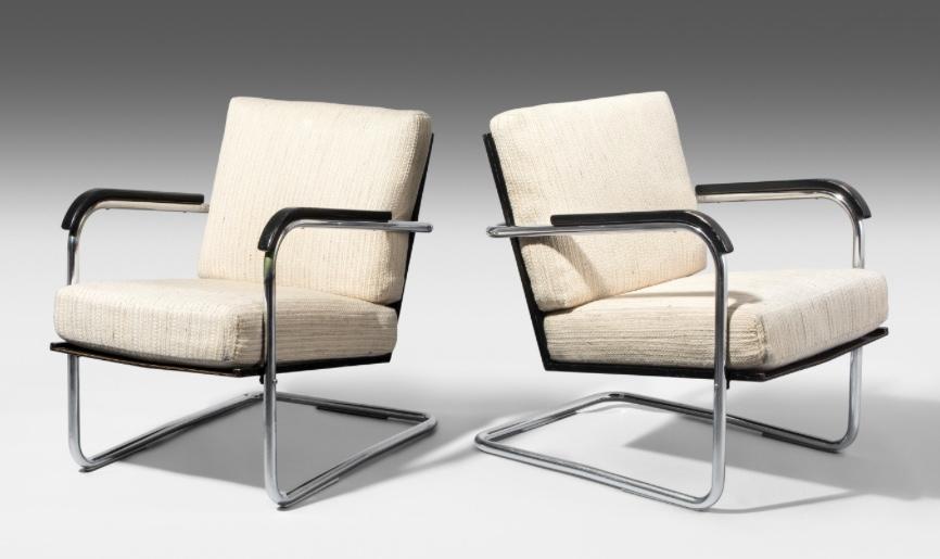WERNER MAX MOSER (Karlsruhe 1896 - 1970 Zürich) - Paar Sessel Modell 1434, Originale Ausführung Embru, Entwurf 1930