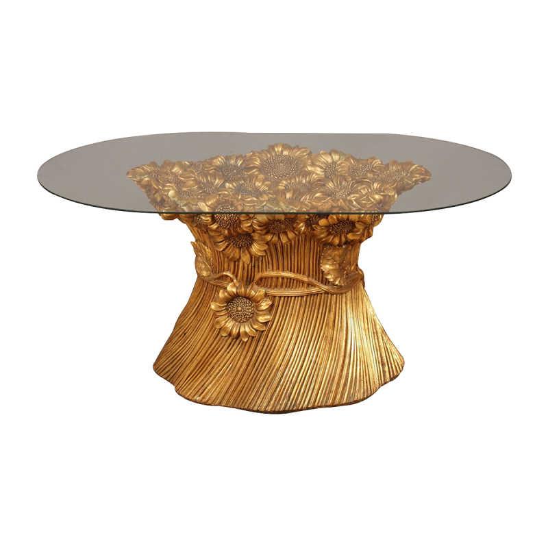 Table « tournesols » de la période « Hollywood Regency »