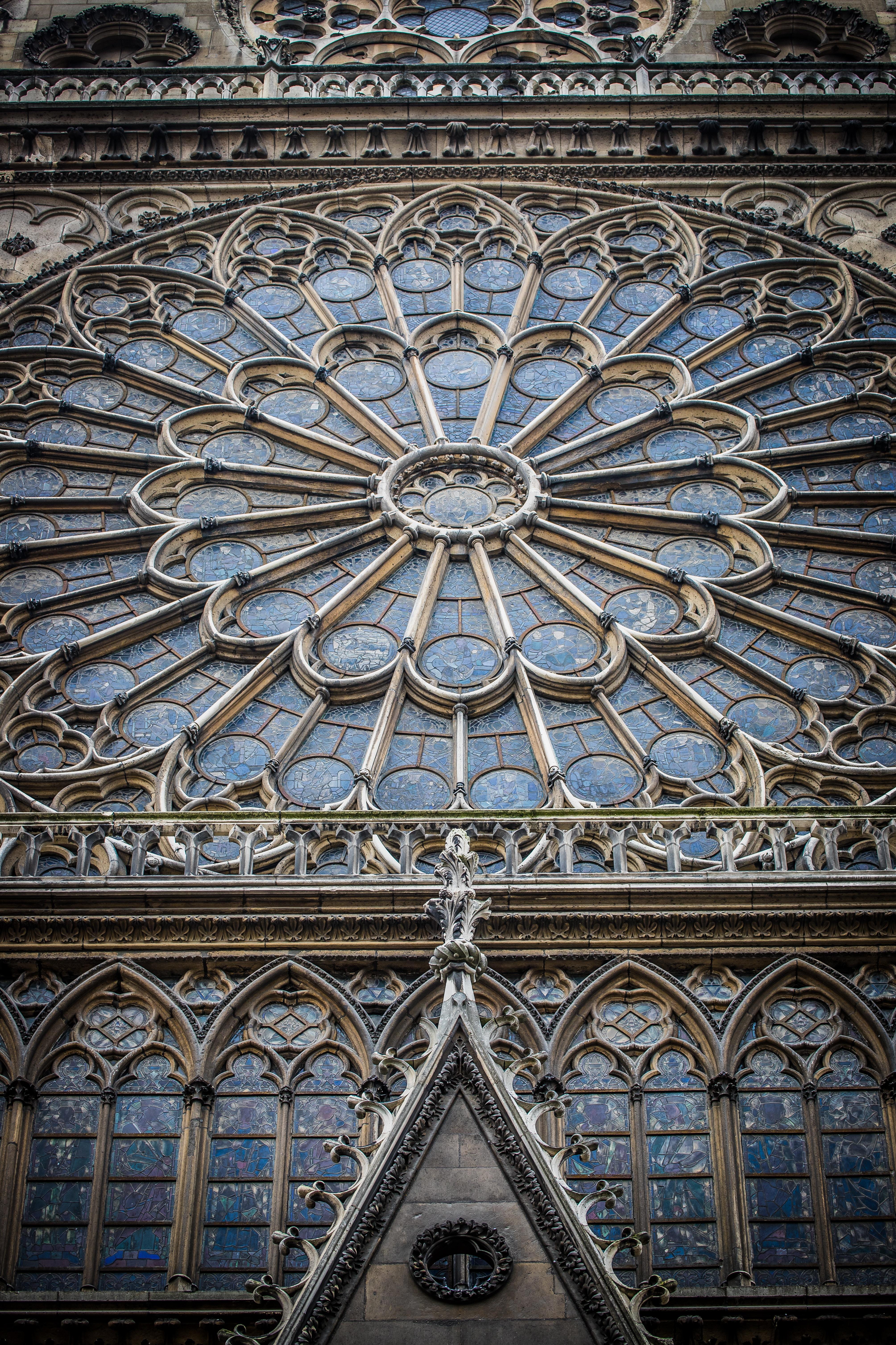 Det norra rosettfönstret på Notre-Dame, från omkring år 1250. Foto: Stephanie LeBlanc via Unsplash
