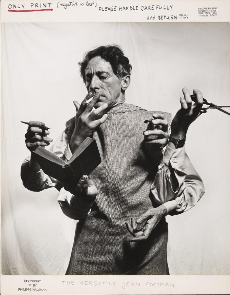 Philippe Halsman, Jean Cocteau, L'artiste multidisciplinaire (1949) © 2016 Philippe Halsman Archive / Magnum Photos