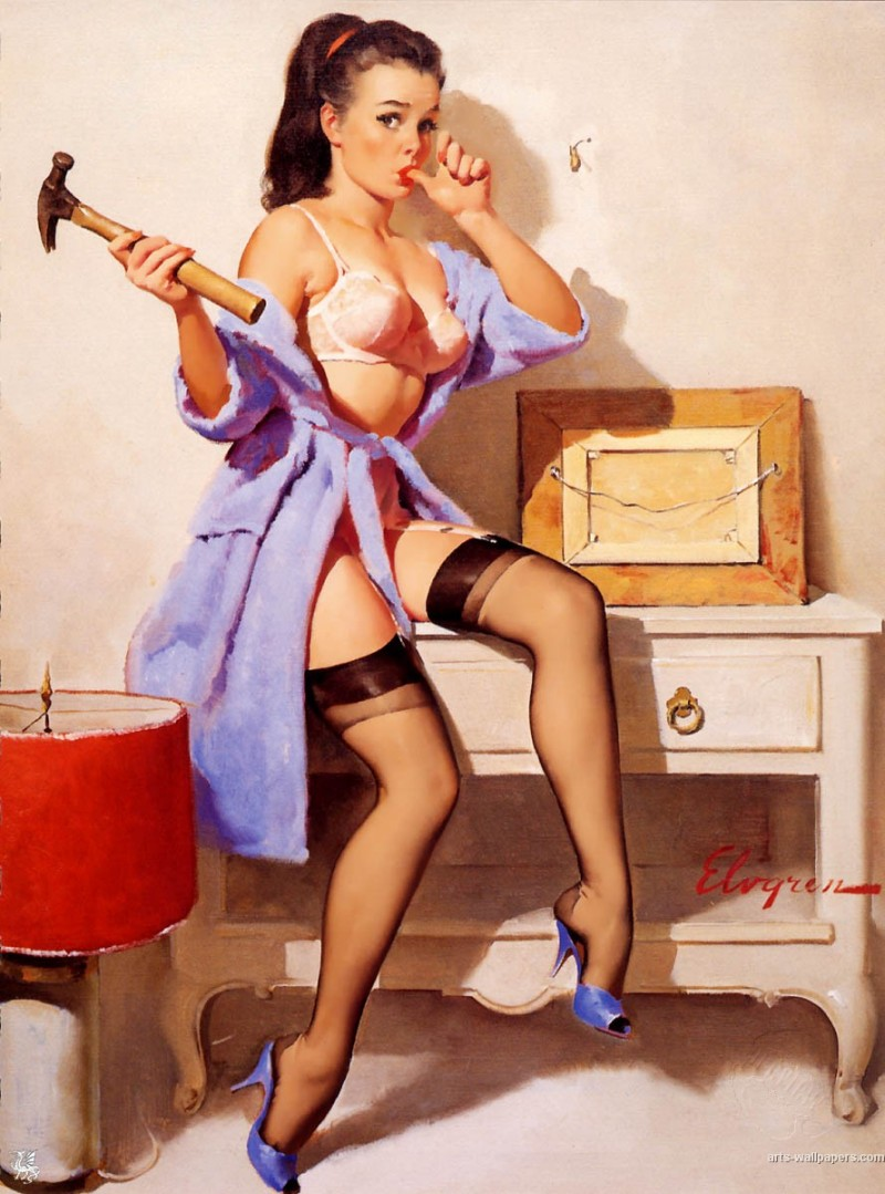 GIL ELVGREN. The wrong Nail (1967)