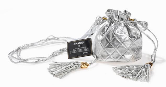 Chanel Sac argenté en agneau 1986/88  Auctionata