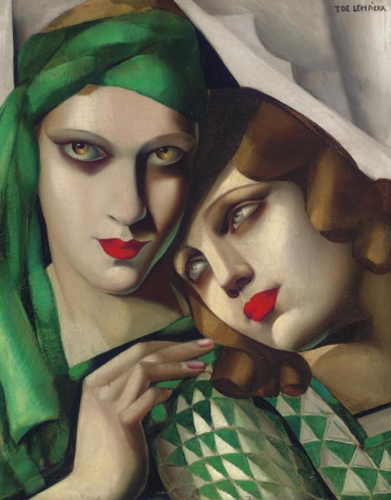 Tamara de Lempicka, « Le Turban Vert », 1929, vendu chez Christie's pour 1,8 million d'euros, image ©Christie's