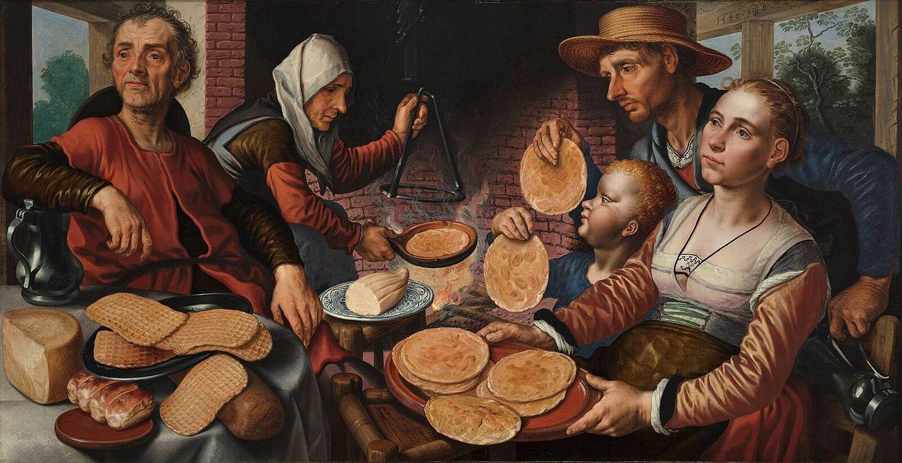 Pieter Aertsen, Die Pfannkuchenbäckerei, ca. 1560 | Abb. via Wikipedia