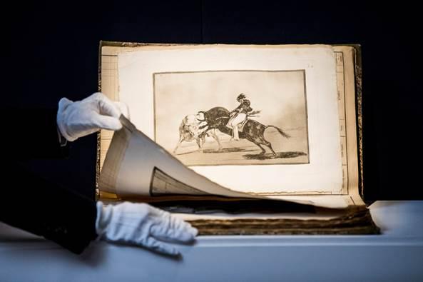 Uno de los grabados de La Tauromaquia de Francisco Goya, subastada en Sotheby's