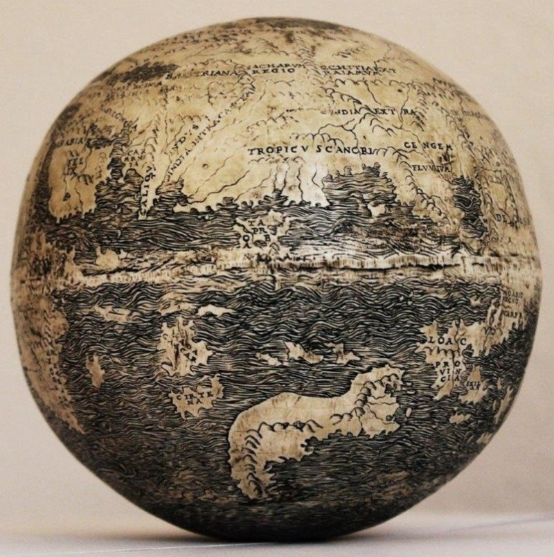 One of the world's oldes globes. Photo: Washington Map Society.