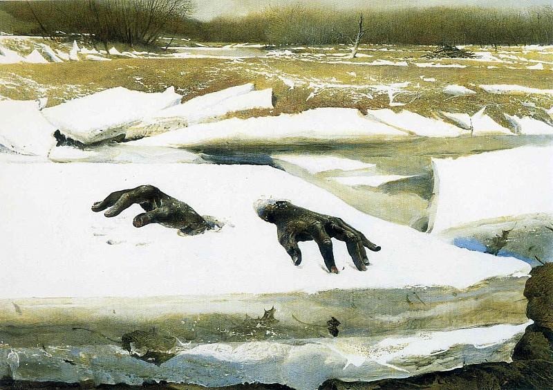 Andrew Wyeth's hands