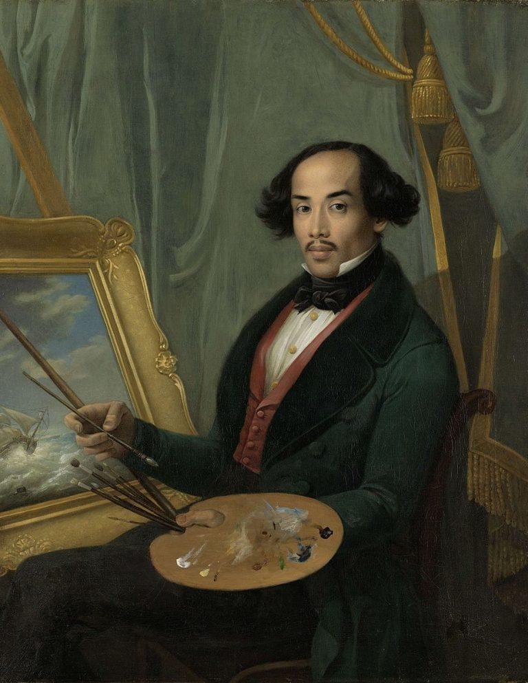 Selbstportrait oder Werk von Friedrich Carl Albert Schreuel (1773-1853)? - Bildnis des Malers Raden Saleh, vor 1840, Rijksmuseum, Amsterdam