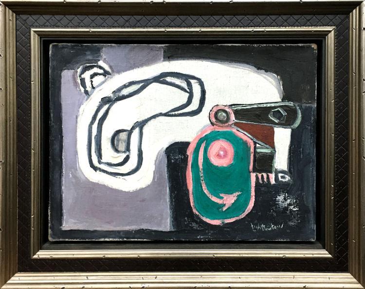 """Roy Lichtenstein, """"Eccentric Cam"""", Huile sur toile"""