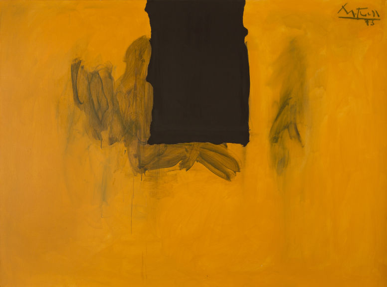 Robert Motherwell (1915-1991) Untitled (Ochre with Black Line), 1972-73/1974 Image via Heritage Auctions